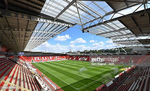 A general view of the New York Stadium home stadium of Rotherham United prior to the Sky Bet Championship match between Rotherham United v...