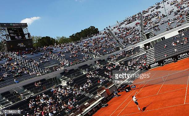 A general view of the newly built centre court at the Foro Italico Tennis Centre on April 30 2010 in Rome Italy