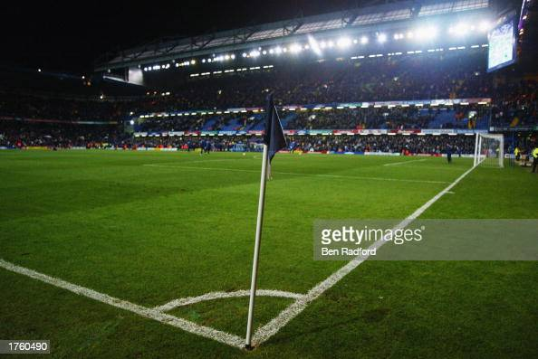 General view of the newly laid pitch at Stamford Bridge during the FA Barclaycard Premiership match between Chelsea and Leeds United held on January...