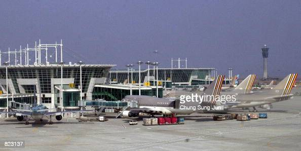 A general view of the newly opened Incheon International Airport that lays 32 miles west of Seoul South Korea April 6 2001 South Korea hopes the new...