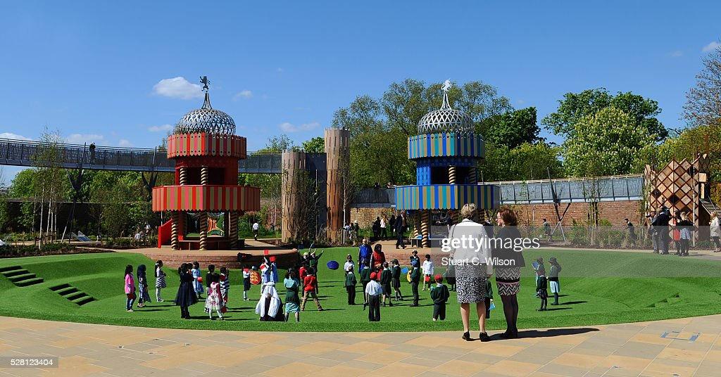 General view of The newly opened Magic Garden At Hampton Court Palace on May 4, 2016 in London, England.