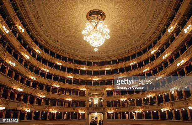 A general view of the newly renovated Teatro Alla Scala on November 12 2004 in Milan Italy The building the most famous opera theatre in Italy will...