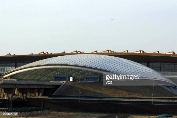 A general view of the newlybuilt No 3 terminal of Beijing international airport on February 23 2008 in Beijing China The drill was the final one...