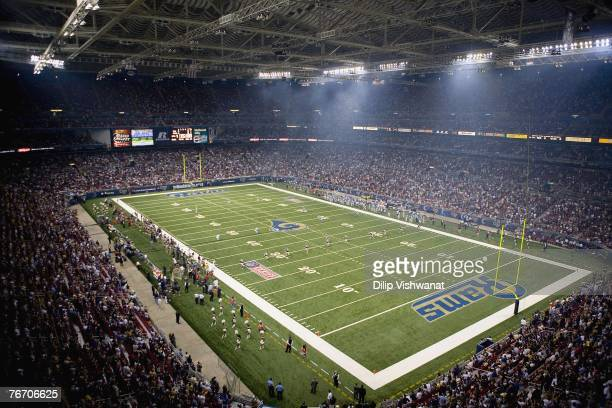 A general view of the NFL game between the St Louis Rams and the Carolina Panthers on September 9 2007 at the Edward Jones Dome in St Louis Missouri...