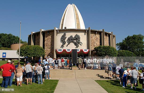 General view of the NFL Pro Football Hall of Fame during enshrinement weekend in Canton Ohio on Saturday August 5 2006