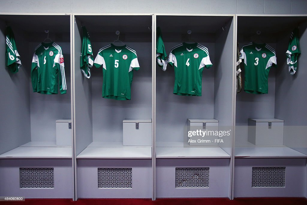 General view of the Nigeria dressing room prior to the FIFA U-20 Women's World Cup Canada 2014 3rd place match between Korea DPR and France at Olympic Stadium on August 24, 2014 in Montreal, Canada.