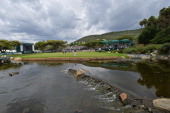 A general view of the nineth hole during the third round of the Nedbank Golf Challenge at Gary Player CC on December 7 2013 in Sun City South Africa