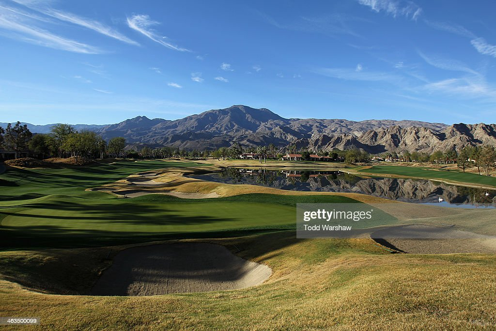 A general view of the ninth hole during the third round of the Humana Challenge in partnership with the Clinton Foundation on the Jack Nicklaus...