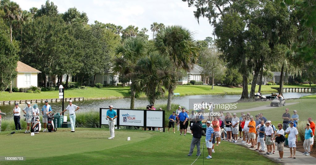 A general view of the ninth tee during the final round of the Web.com Tour Championship held on the Dye's Valley Course at TPC Sawgrass on September 29, 2013 in Ponte Vedra Beach, Florida.