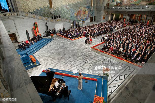 A general view of the Nobel Peace Prize Award Ceremony on December 10 2013 in Oslo Norway
