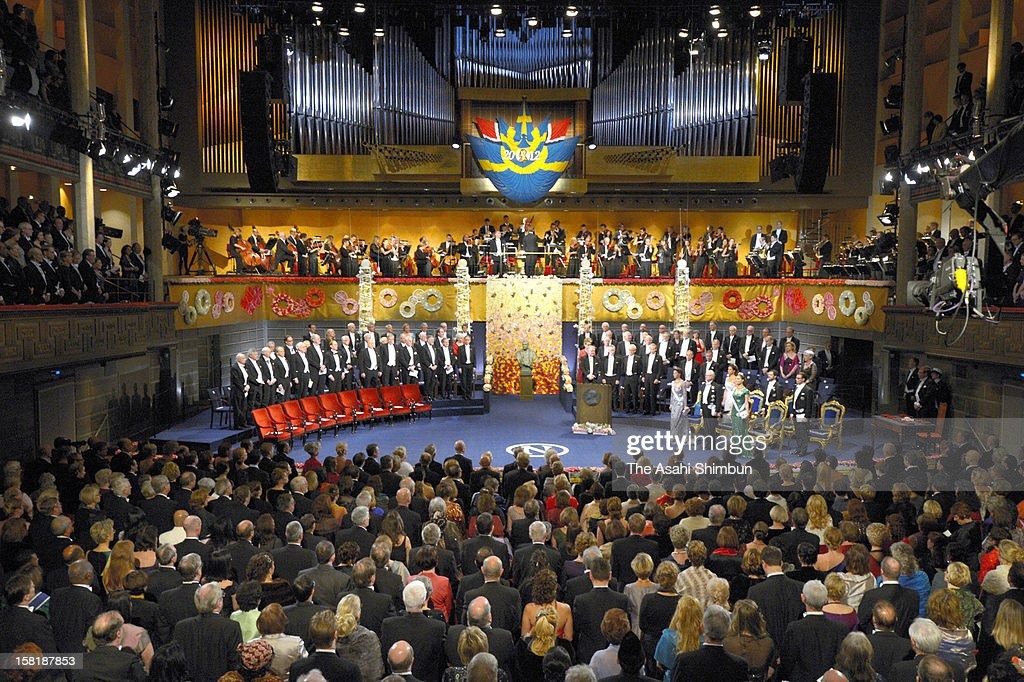 General view of the Nobel Prize Award Ceremony at Concert Hall on December 10, 2012 in Stockholm, Sweden.