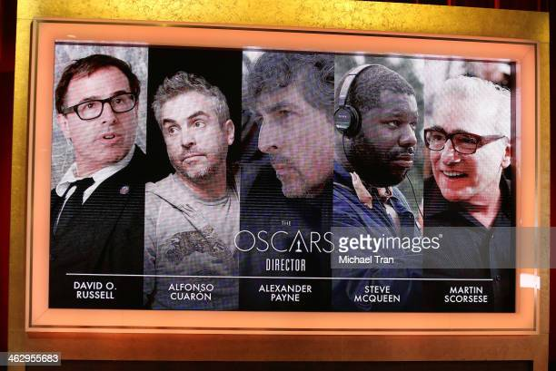 A general view of the nominees at the 86th Academy Awards nominations announcement held at AMPAS Samuel Goldwyn Theater on January 16 2014 in Beverly...