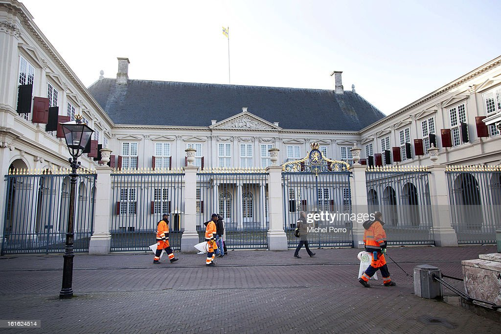 General view of the Noordeinde Palace where future King Willem Alexander will be working after his coronation on February 13, 2013 in The Hague, Netherlands. The coronation Of Prince Willem Alexander will happen on April 30