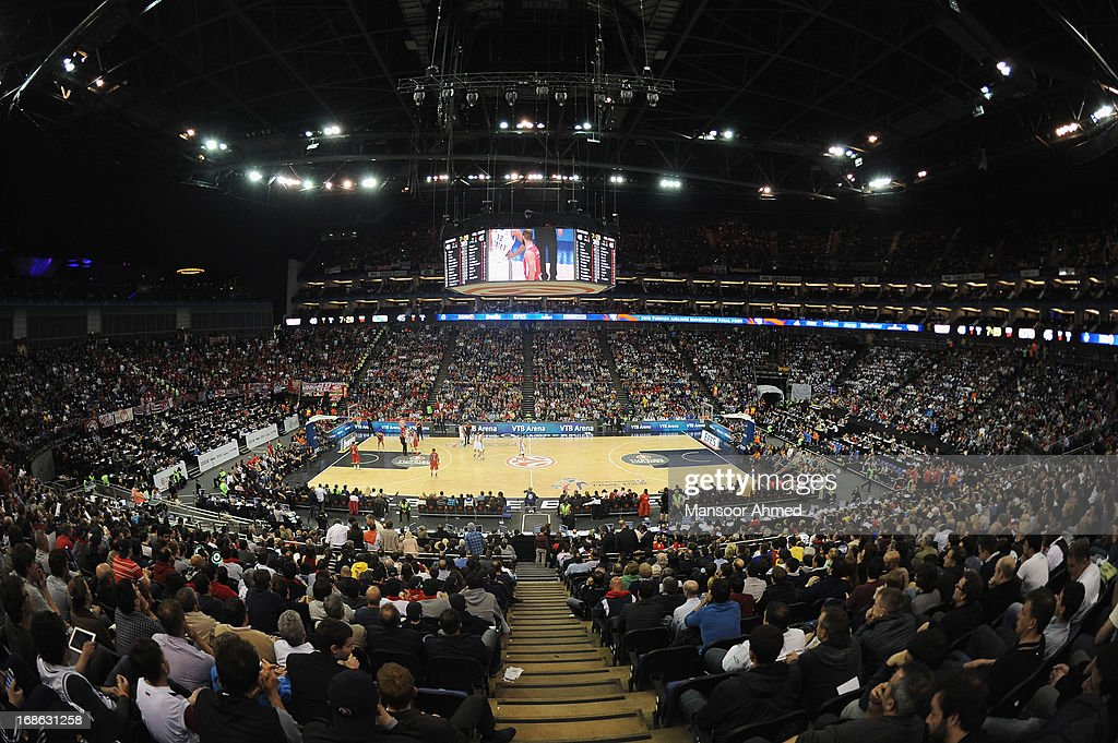 A general view of the O2 Arena during the Turkish Airlines EuroLeague Final game between Olympiacos Piraeus v Real Madrid at O2 Arena on May 12, 2013 in London, United Kingdom.