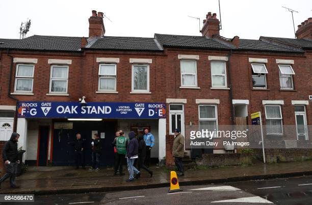 A general view of the Oak Stand during the Sky bet League Two playoff second leg match at Kenilworth Road Luton