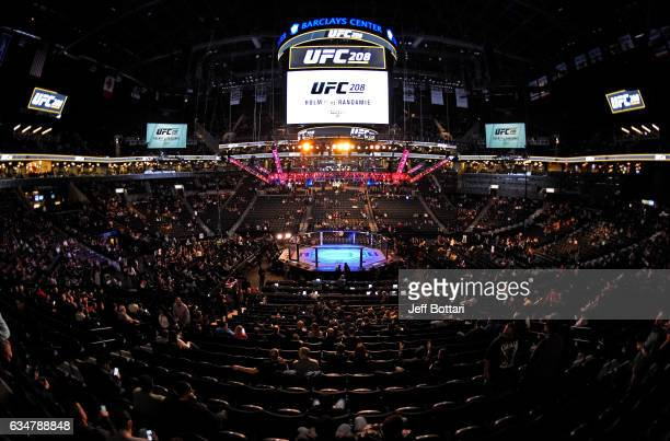 A general view of the Octagon before the UFC 208 event inside Barclays Center on February 11 2017 in Brooklyn New York