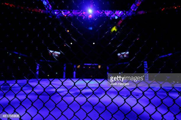 A general view of the Octagon before the UFC Fight Night event at Vector Arena on June 28 2014 in Auckland New Zealand
