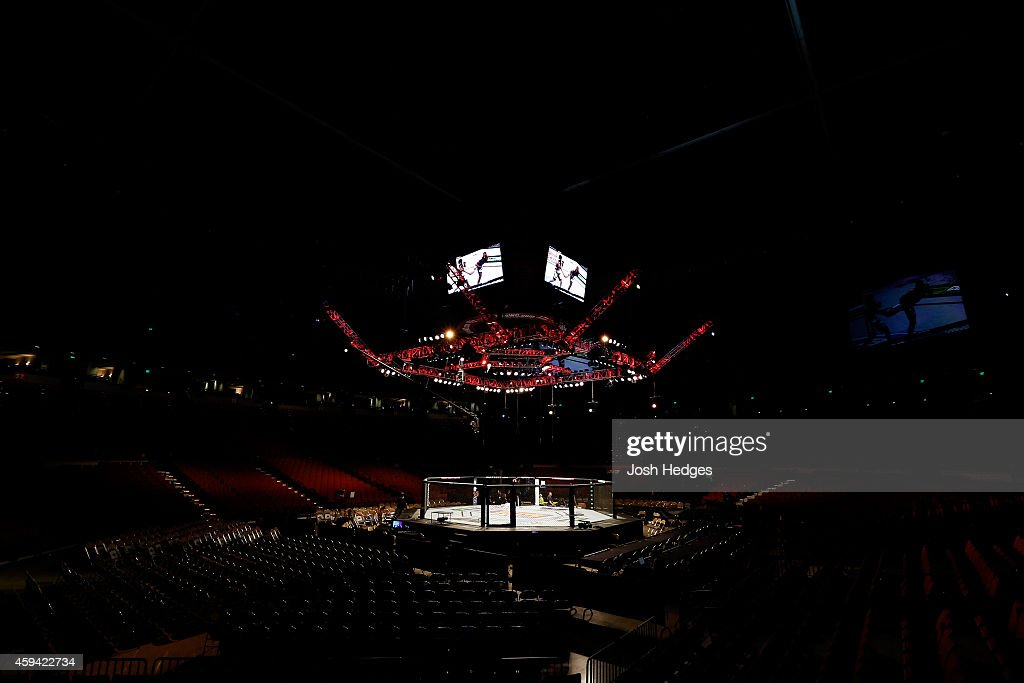 A general view of the Octagon before the UFC Fight Night event at The Frank Erwin Center on November 22, 2014 in Austin, Texas.