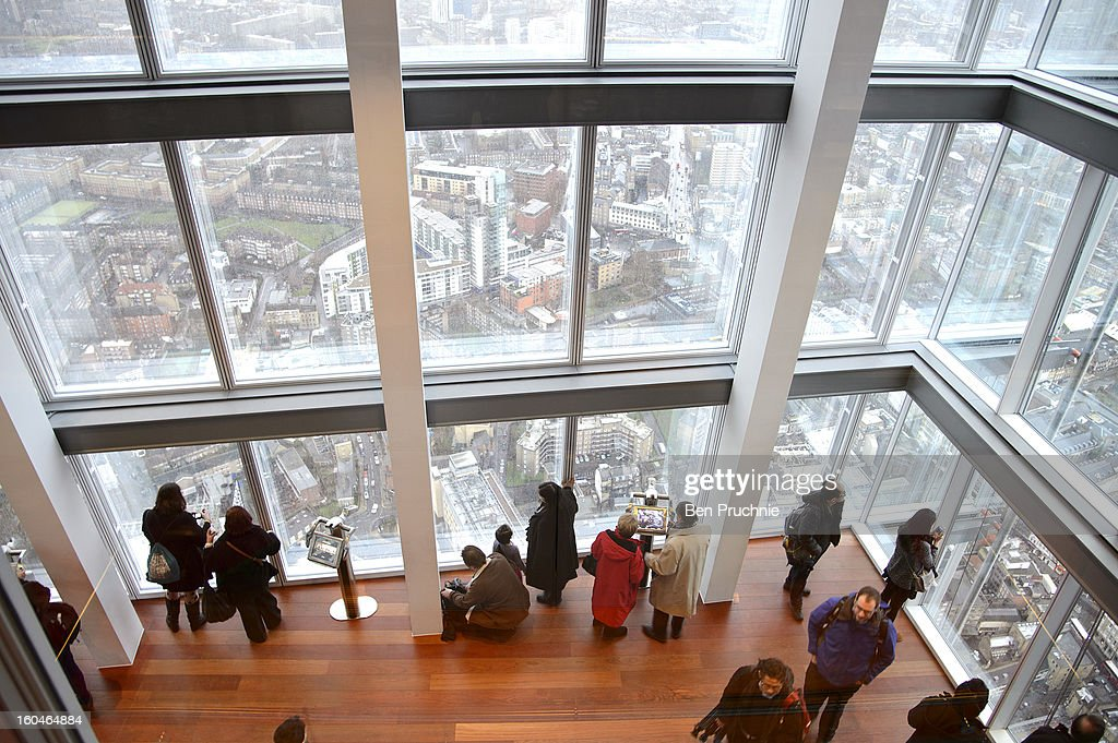 General View of the official opening of The View from The Shard viewing platform at The Shard on February 1, 2013 in London, England.