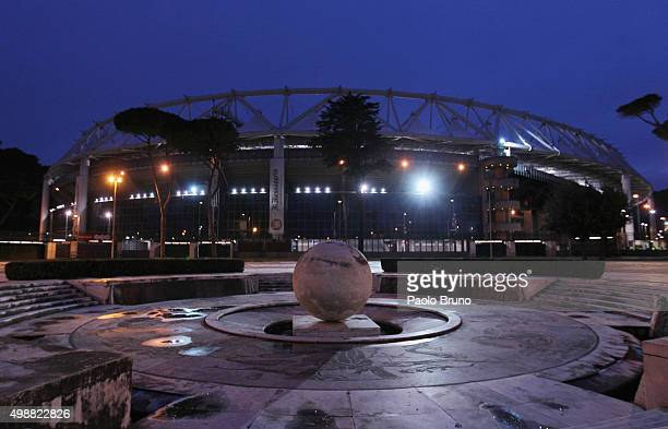 A general view of the Olimpico Stadium before the UEFA Europa League group G match between SS Lazio and FC Dnipro Dnipropetrovsk at Olimpico Stadium...