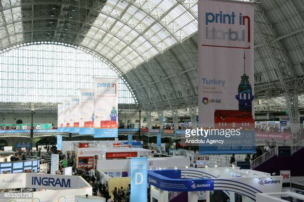 A general view of the Olympia Fair Center during the 46th London Book Fair the global marketplace for rights negotiation and the sale and...