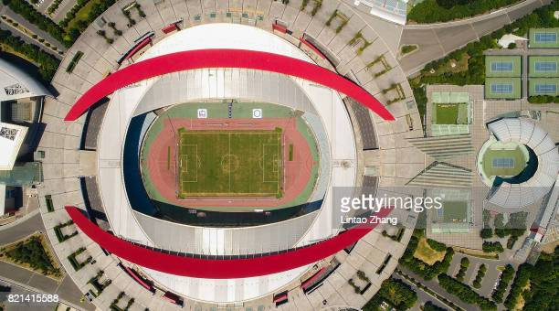 A general view of the Olympic Sports Centre Stadium ahead of the 2017 International Champions Cup football match between Olympique Lyonnais and FC...