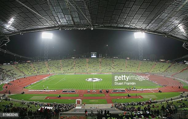 A general view of The Olympic Stadium before the UEFA Champions League match between FC Bayern Munich and Juventus at The Olympic Stadium on November...
