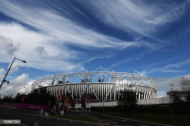 A general view of the Olympic Stadium during 2012 London Paralympics previews on August 28 2012 in London England