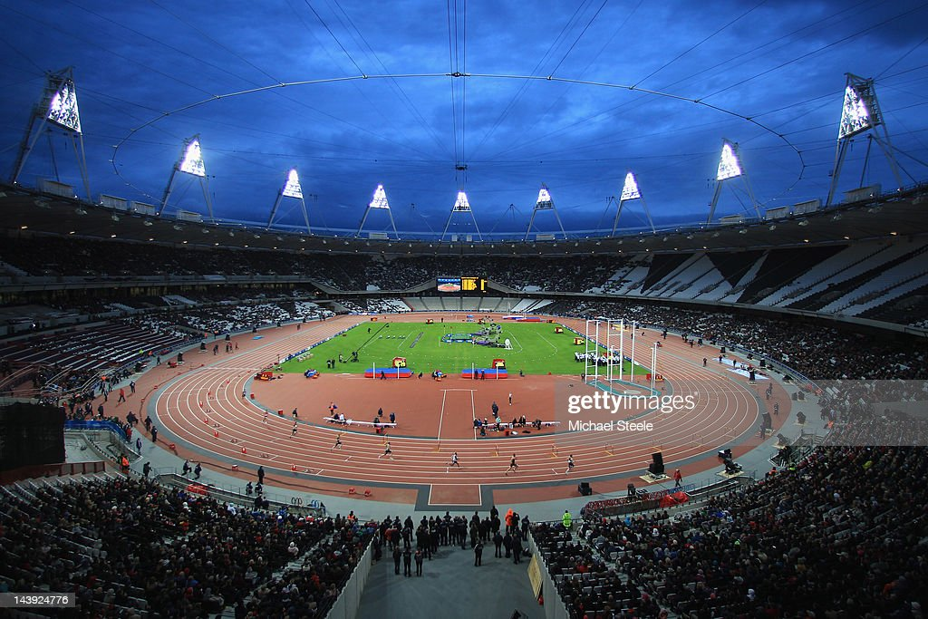 General view of the Olympic Stadium during day two of the BUCS VISA Athletics Championships 2012 LOCOG Test Event for London 2012 at the Olympic...