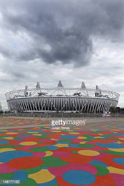 A general view of the Olympic Stadium during previews ahead of the London 2012 Olympic Games at the Olympic Park on July 19 2012 in London England