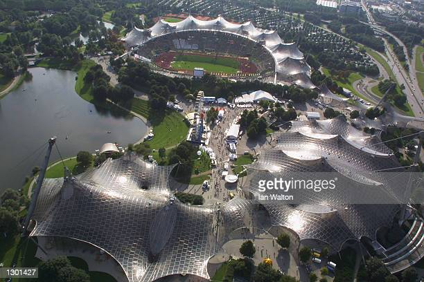 General View of the Olympic Stadium during the 18th European Championships in Athletics at the Olympic Stadium in Munich Germany on August 9 2002