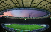A general view of the Olympic Stadium during the DFB German Cup final between VfB Stuttgart and 1FC Nuremberg at The Olympic Stadium on May 26 2007...