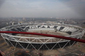 A general view of the Olympic Stadium on April 2 2014 in London England The 560 acre Queen Elizabeth Olympic Park complete with 5 Olympic venues...