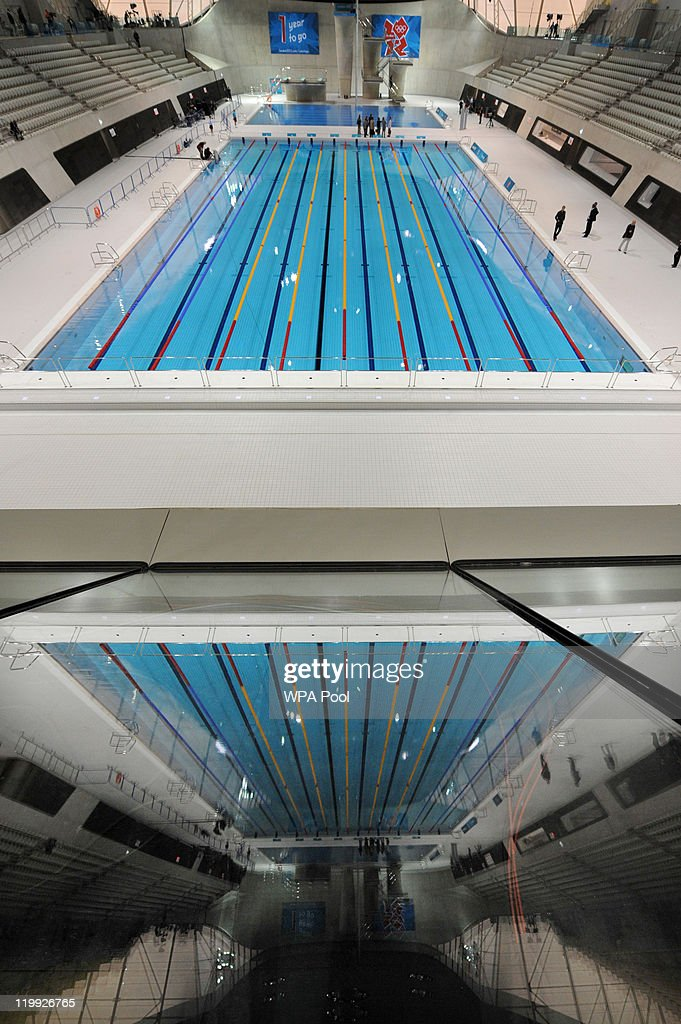 General View Of The Olympic Swimming Pool In The Aquatics Centre Venue For  The London