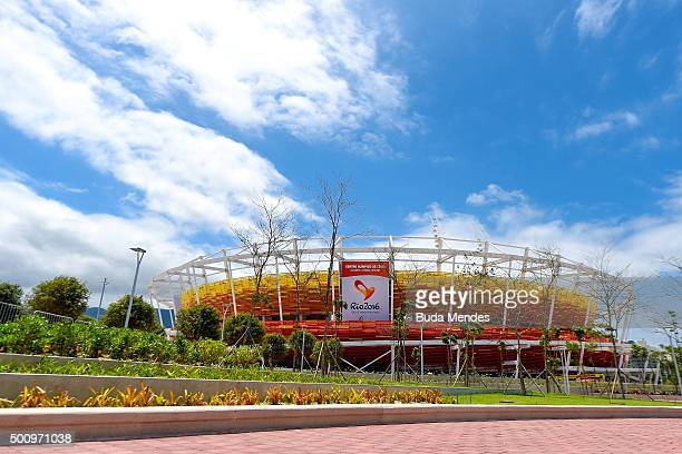 General view of the Olympic Tennis Centre venues at the Olympic Park during the Brazil Master Cup as a test event for the Rio 2016 Olympic Games on...