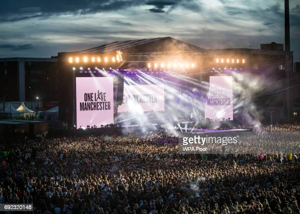 A general view of the 'One Love Manchester' benefit concert on June 4 2017 in Manchester England