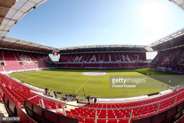 General view of the Opel Arena prior to the Bundesliga match between 1 FSV Mainz 05 and Hamburger SV at Opel Arena on October 14 2017 in Mainz Germany