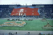 General view of the Opening ceremonies of the 1980 Summer Olympic Games on July 19 1980 in Moscow Russia