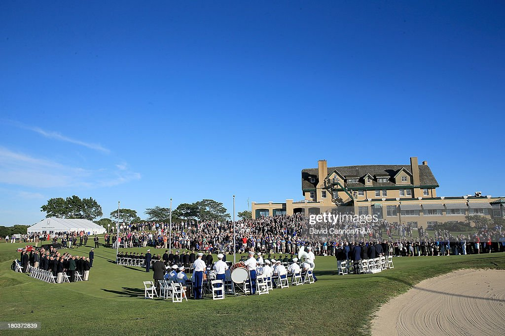 A general view of the Opening Ceremony as a preview for the 2013 Walker Cup Match at National Golf Links of America on September 6, 2013 in Southampton, New York.