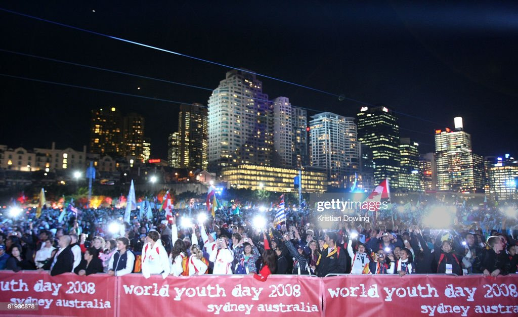 A general view of the Opening Mass formally celebrating the start of World Youth Day 2008 at Barangaroo on July 15, 2008 in Sydney, Australia. Organised every two to three years by the Catholic Church, World Youth Day (WYD) is an invitation from the Pope to the youth of the world to celebrate their faith. The celebration, being held in Sydney from July 15 to July 20, 2008, will mark the first visit of His Holiness Pope Benedict XVI to Australia.