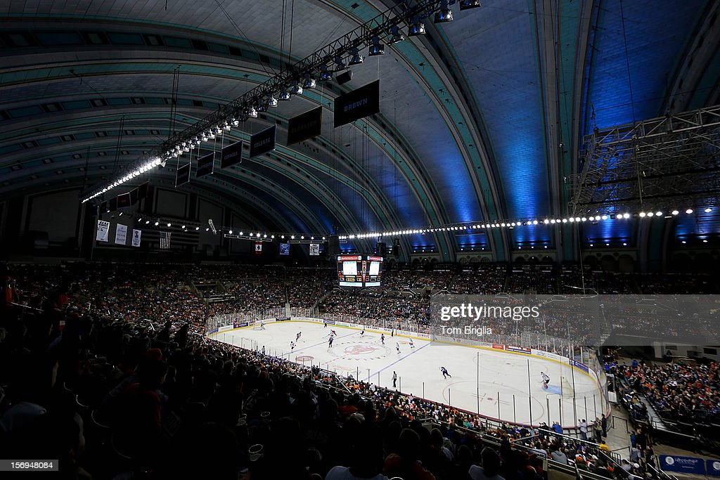 A general view of the Operation Hat Trick Benefit Exhibition Hockey Game at the Boardwalk Hall Arena on November 24, 2012 in Atlantic City, New Jersey.