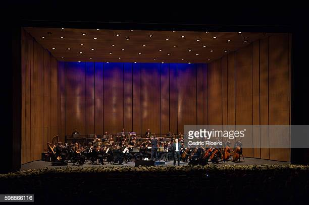 A general view of the orchestra during the Opening Night of Dubai Opera on August 31 2016 in Dubai United Arab Emirates