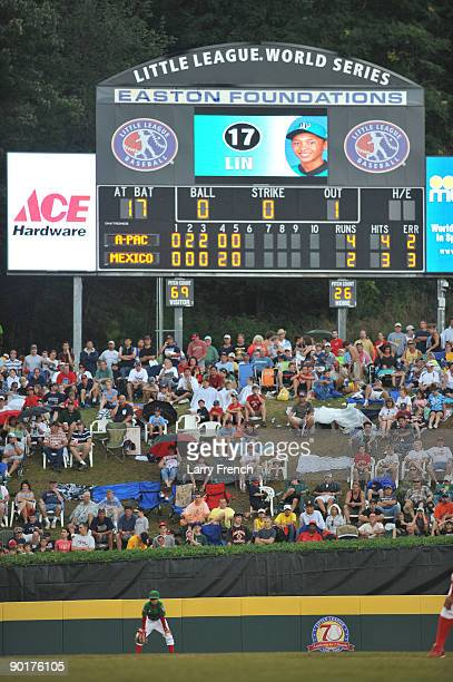 General view of the outfield and scoreboard during the game between Asia Pacific and Mexico in the International final at Lamade Stadium on August 29...