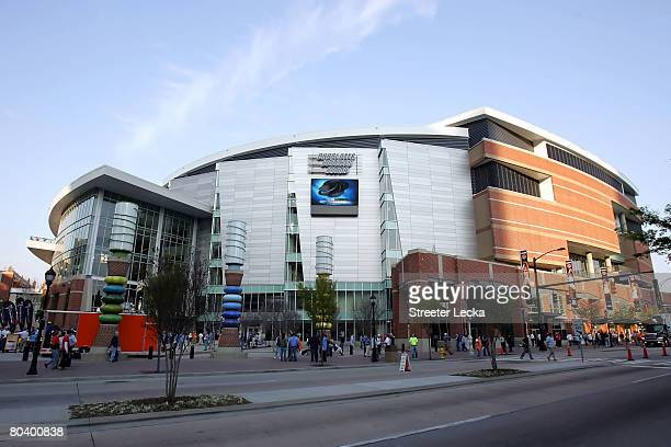 A general view of the outside of Bobcats Arena before the start of the 2008 NCAA Men's East Regional Semifinal games on March 27 2008 in Charlotte...