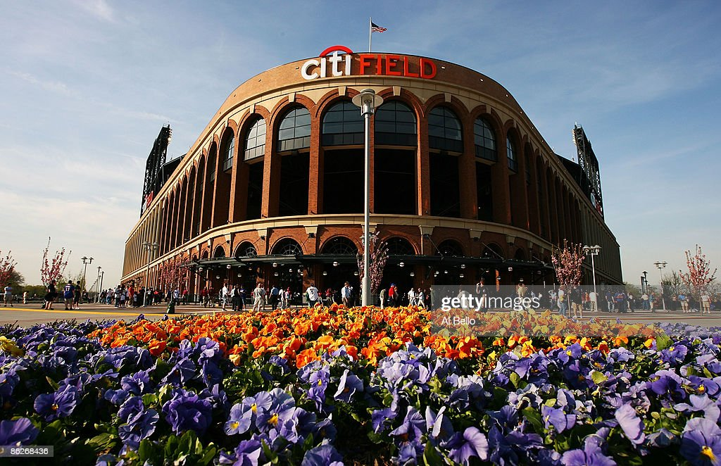 General view of the outside of Citi Field before the game between the New York Mets and the Florida Marlins on April 28 2009 at Citi Field in the...