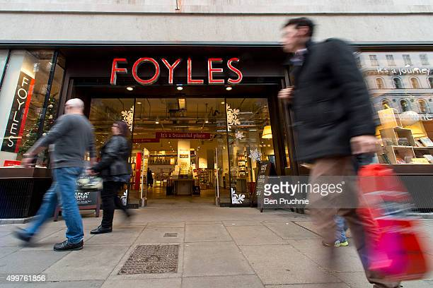 A general view of the outside of Foyles bookshop on December 3 2015 in London United Kingdom Foyles flagship store on Charing Cross Road was founded...