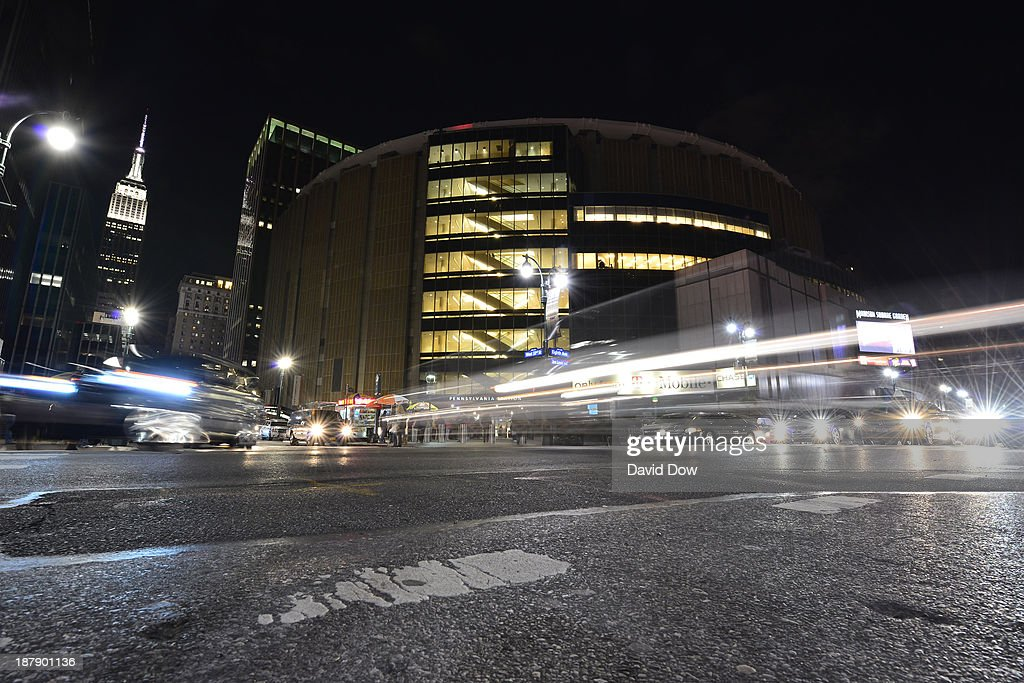 A general view of the outside of Madison Square Garden before the Minnesota Timberwolves game against the New York Knicks November 3 2013 at Madison...