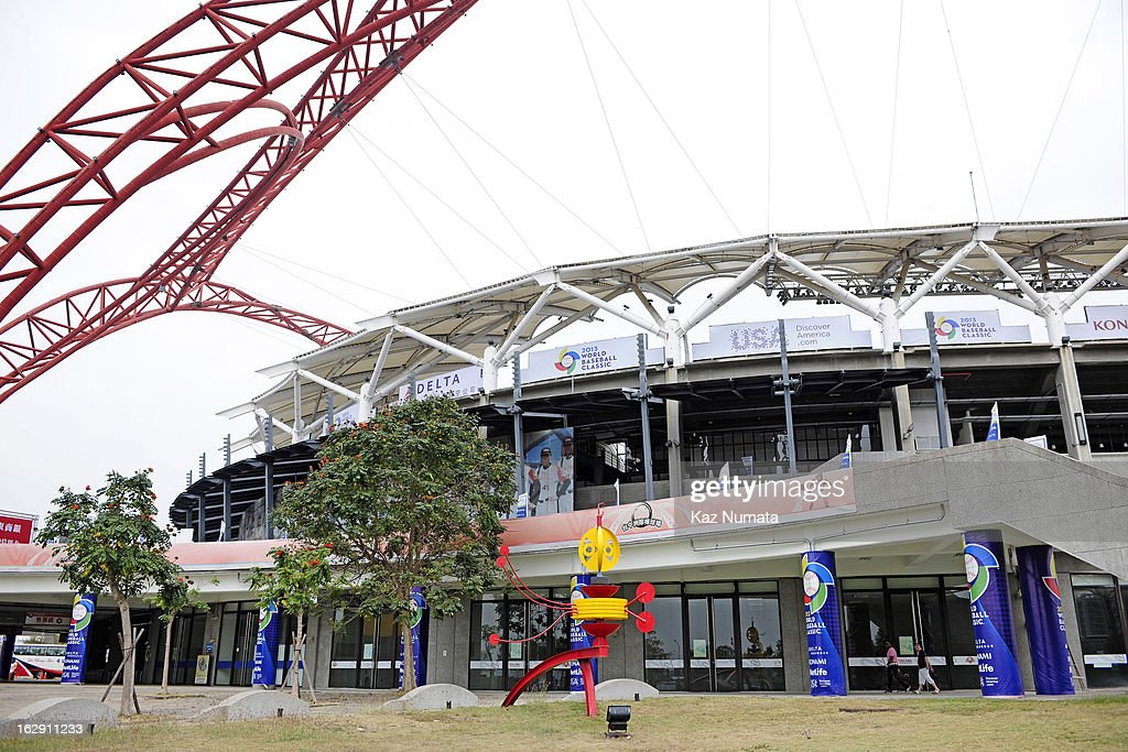 A general view of the outside of Taichung Intercontinental Baseball Stadium during the World Baseball Classic workout day of Team Netherlands on March 1, 2013 in Taichung, Taiwan.