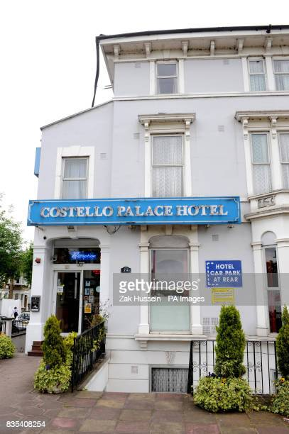 A general view of the outside of the Costello Palace Hotel in Finsbury Park north London where a couple were found dead at lunchtime on Sunday after...