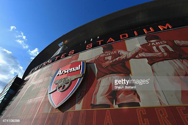 A general view of the outside of the stadium ahead of the Barclays Premier League match between Arsenal and Sunderland at Emirates Stadium on May 20...